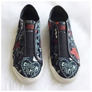 Coach Poppy Graffiti Collection Sneakers